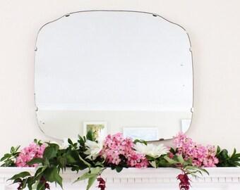 Extra Large Vintage Mirror Art Deco Mirror Frameless mirror Feature Wall Mirror  M178
