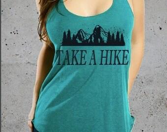 Womens TAKE A HIKE Shirt-Mountain Shirt)Hiking Shirt,CampingShirt,Womens Graphic Tees,Top Seller,Gift For Her,Girlfriend Gift,Workout Tank-