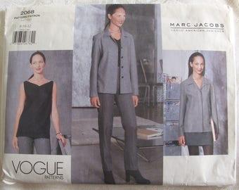 Vintage Vogue Ensemble Pattern 2068, Marc Jacobs American Designer, Sizes 8, 10, 12