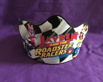 PRINTABLE Personalized Mickey and the Roadster Racers Birthday Crown / Party Hat  (Digital file ONLY)