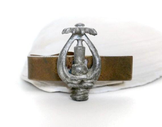 sprinkler tie clip firefighter tie clip vintage tie bar