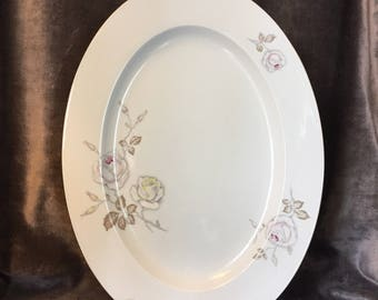 "Vintage Johann Haviland Bavaria Germany Sweetheart rose large 15"" platter"