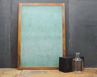Vintage Double Sided Oak Chalkboard Chalk Board Prop Wall Art Mid-Century School House Eclectic Cabin Cottage Rustic Modern
