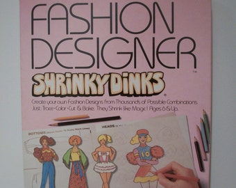 Terrific Vintage Fashion Designer Shrinky Dinks by Colorforms 1981 - #2106