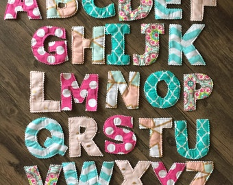 Fabric Alphabet Set, Fabric Letters,  Alphabet Letters, Baby Name, Magnetic Letters, Cloth Letters, Montessori Learning, Fabric Bunting