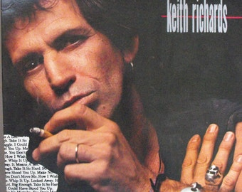 Keith Richards, Talk is Cheap, Vintage Record Album, Vinyl LP, Classic Rock Music, Rolling Stone's Guitar Player, Singer Songwriter, Legend