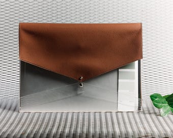 Brown leather laptop case for laptop cover 15 inch plastic case leather and plastic sleeve transparent case for laptop naked case feel felt
