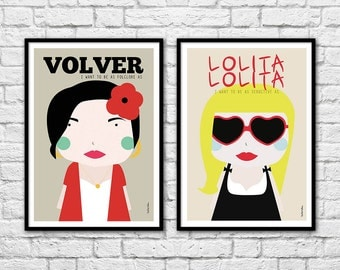 2 Art-Posters 30 x 40 cm - Duo Girls - Volver and Lolita