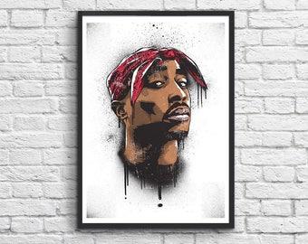 Art-Poster 50 x 70 cm - Tupac Shakur