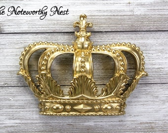 ANY COLOR: Gold Crown Wall Hanging // Gold Decor // Gallery Wall // Nursery Decor // Princess Decor // Hanging Crown // Crown Decor //