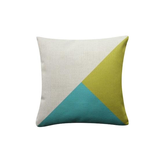 18x18 Decorative Pillow Cover Color Block