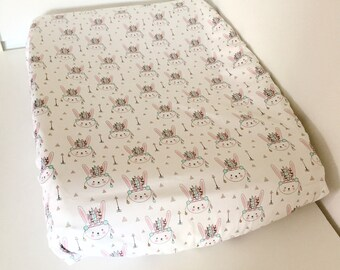Change pad cover - Indian Bunnies - Universal Fit (80x50cm)
