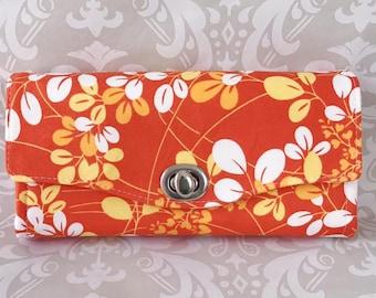 Orange Flowers Necessary Clutch Wallet