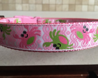 She Crab Medium and Large Dog Collar and Optional Matching Leash
