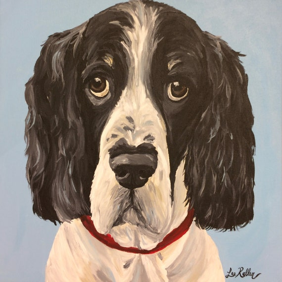 Russian Spaniel Dog Print From Original Painting Russian