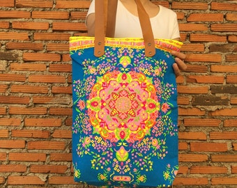 Tote Bag Neon / Beach tote / Canvas Tote bag / Summer Beach bag