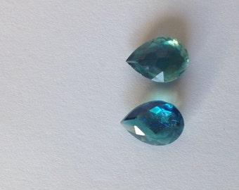 10 blue saphir tear drops 14x10 mm