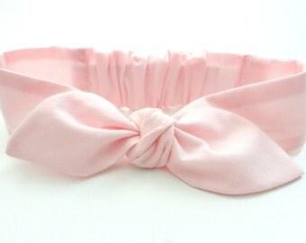 Baby headband, infant headband, soft pink