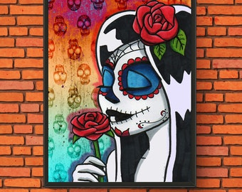 Day of the Dead Digital Painting Print