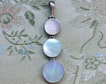 Mother of Pearl Pendant, Sterling Silver