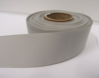 Grosgrain Ribbon 3mm, 6mm 10mm 16mm 22mm 38mm Rolls, Light Silver / Grey, ,10, 20 or 50 metres, Ribbed Double sided,