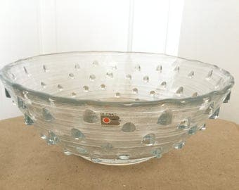 Large Vintage Blenko Glass Bowl