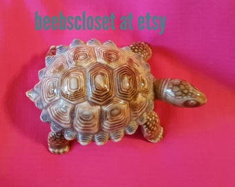 Green turtle made of ceramic