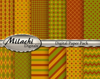 60% OFF SALE Thanksgiving Digital Paper Pack - Commercial Use - Instant Download - M29
