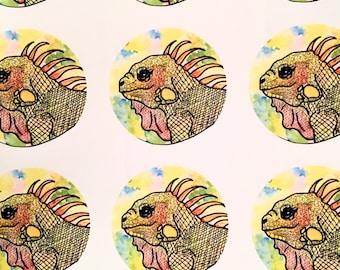 Pretty Iguana Sticker