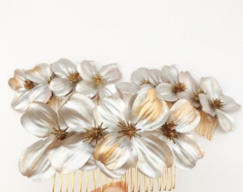 hair comb, flower hair comb, bridal hair comb, headpiece, summer headpiece, flower headpiece, bridal hair comb, fabric flowers, hair jewelry