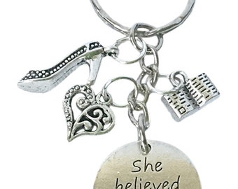 She Believed She Could So She Did Keyring Bag Charm key chain