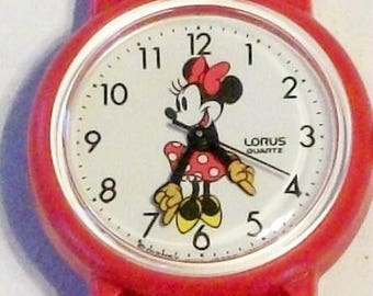 Disney New Points To Time Minnie Mouse Watch! Retired! Out of Production! By Lorus!