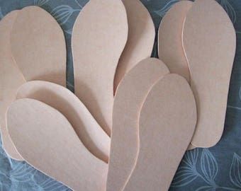 shoe making insoles Shoe board insole board (pack of 5 pairs) Texon board for shoemaking (choose size below)