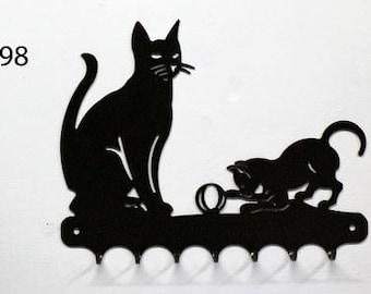 Hangs key pattern metal: cat
