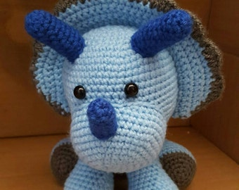 Crochet Toby Triceratops Plush
