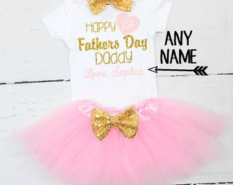 happy first fathers day happy first fathers day daddy personalized fathers day outfit baby girl first fathers day outfit 1st fathers day