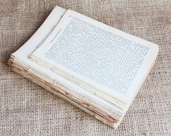 Antique Paper 100 sheets Altered Art Craft Supply Decoupage Cardmaking Scrapbooking Collage Journalling Supply