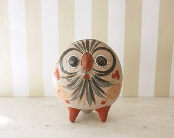 Tonala Stoneware Owl Sculpture
