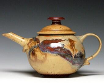 Large Stoneware Teapot, Handmade Pottery Teapot, Hand Thrown Ceramic Teapot