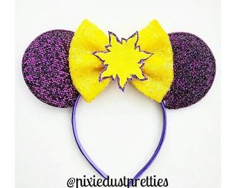 Rapunzel Mouse ears, rapunzel ears, rapunzel, tangled, minnie ears, minnie mouse, princess, lost princess, rapunzel sun