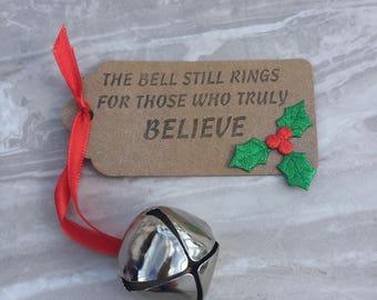 Christmas 'Believe' Bell, Jingle bell, Santa bell, Christmas bell, Christmas Eve box, kids gift