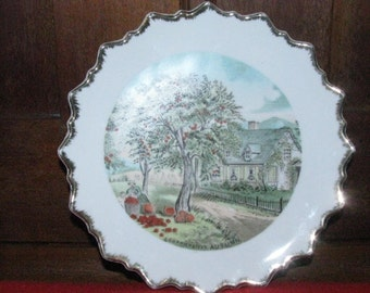 Vintage Currier and Ives Autumn plate
