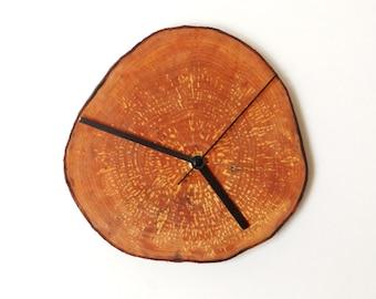 Clock, wall clock, wooden clock, rustic clock, eco friendly clock, handmade clock (4)