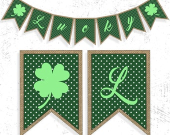 St. Patricks Day Party | St Patty's Day Banner | Shamrock Banner | St. Patricks Day Decor | Lucky Irish Banner | Shamrock Garland