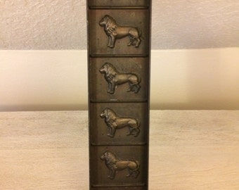 Vintage, Victorian Chocolate/Candy Lion Mold, Copper Plated Steel