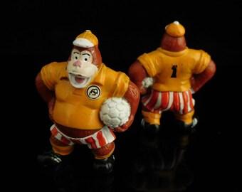 Vintage Toys, Collectible, Soccer Monkey, Animal Football, Dribbel Boys 1990, Toni Tornado, Vintage KINDER Surprise Figurine