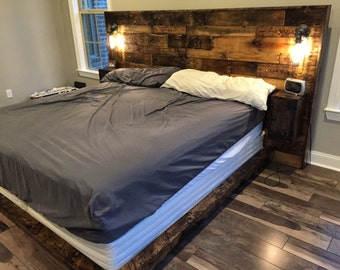 Rustic Headboard (upgraded), Wood Headboard, Queen Headboard, King Headboard,  Full