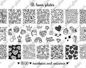 B.00 - rainbows and unicorns - nail stamping plates (B. Loves Plates )