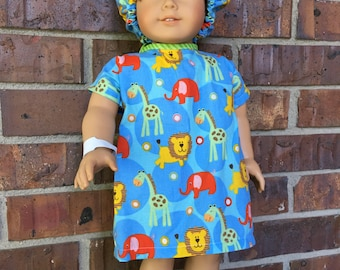 "Boy patient gown with accessories made to fit the 18"" American girl custom boy doll"