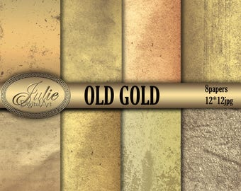Gold digital Paper Old vintage background instant download for digital scrapbooking and Graphic Design
